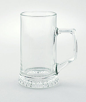 Bier Glass Mug - CG11070 - 16 oz Bier tankard, glass, engravable