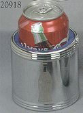Bottle / Can Holder CG020918 - Chrome plated bottle or Can Holder, engravable