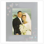 Holographic Hearts photo frame CG23244 - This frame holds a 4X6 photo.