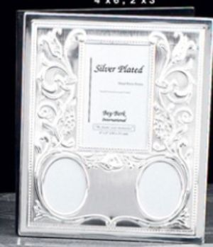 Silver Plated Photo Album - BB27 - Engraveable, Multi Size Silver Plated Photo Album