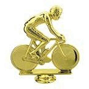 Bicycle Trophy - goldtone bike on your choice of base