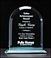 Arched Acrylic Award - a6520