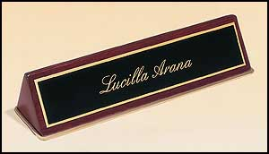 556-572 - piano finish name plates, choose black or rosewood