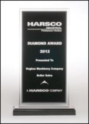 Acrylic Award A6860 - Black center with silver mirror border